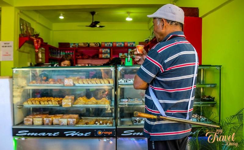The brand new café in Anini market