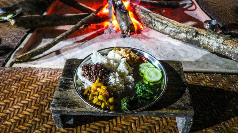 Traditional lunch was served in Alynie village of Anini, Arunachal Pradesh