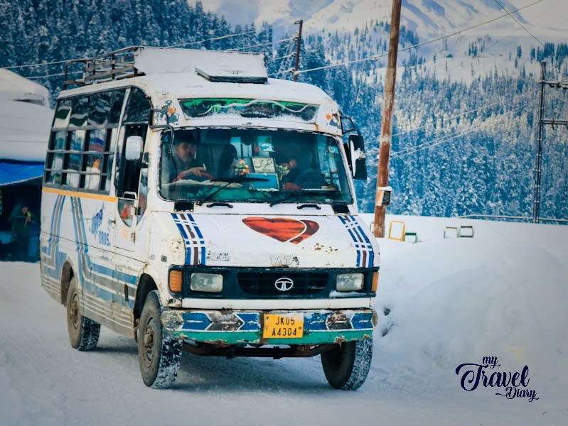 Local bus service from Tanmarg to Gulmarg