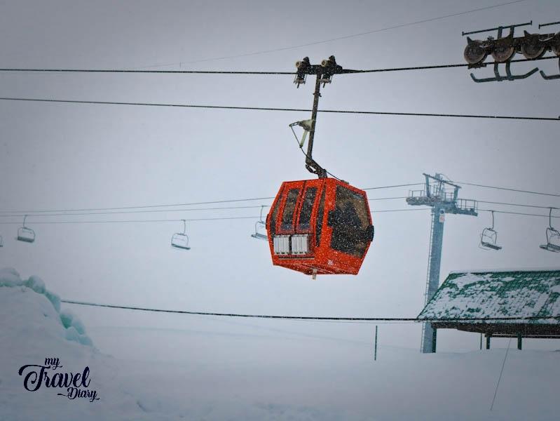 Gondola ride in Gulmarg, Kashmir