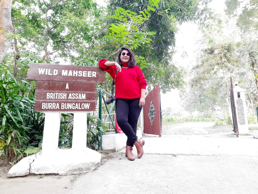 Me at the entrance of iconic Burra Bungalow