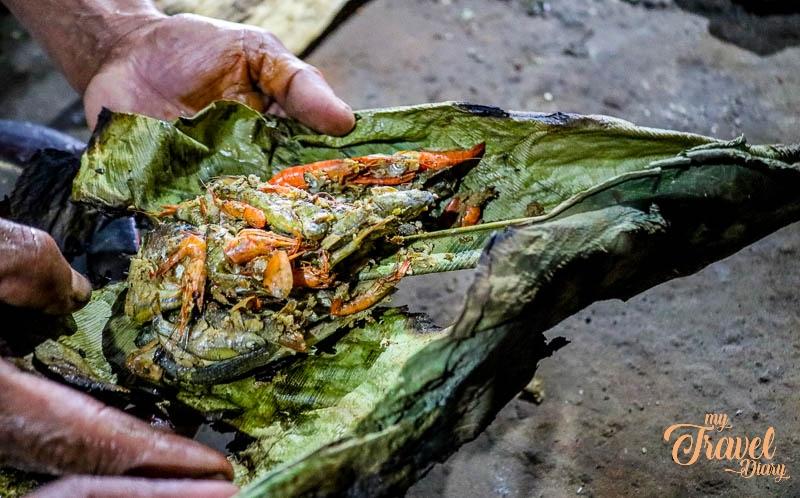 Dried Fishes wrapped in leaf in Ledum Village, Arunachal Pradesh