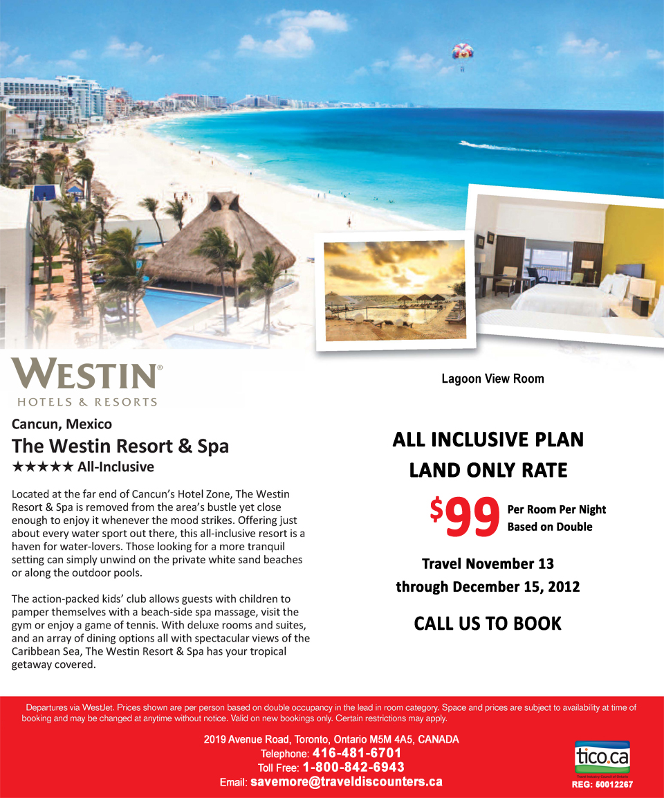The Westin Resort And Spa Cancun Mexico Cheap All