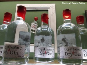 Bottles of City of London Dry Gin distilled at the City of London Distillery