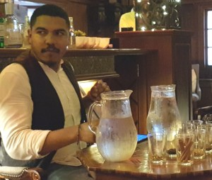 Bartender Diego at the London gin masterclass at The Trading House