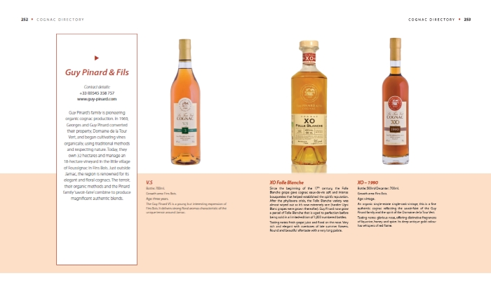 Sample Directory spread in World of Cognac book review