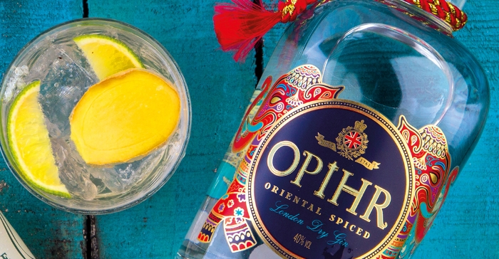 Opihr gin and ginger ale cocktail recipe