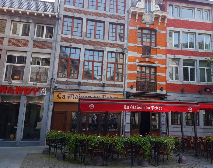 The Maison du Peket Restaurant, also known as the Amon Nanesse Restaurant, in Liege, Belgium
