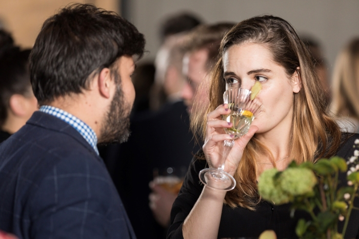 At the launch of the new Nouaison gin from G'Vine gin at Nobu in Shoreditch, London