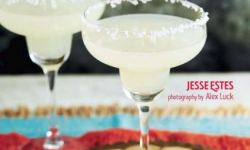 Front cover of the tequila and mezcal cocktail recipes book, Tequila Beyond Sunrise, by Jesse Estes