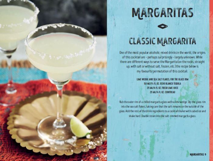 Classic Margarita recipe from the tequila and mezcal cocktail recipes book, Tequila Beyond Sunrise, by Jesse Estes