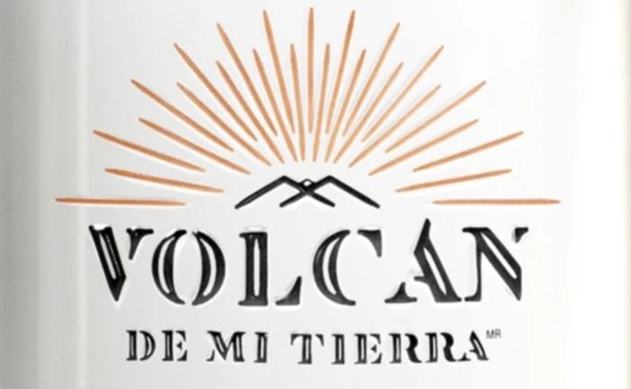 The Logo on the Label of a bottle of Volcan de mi Tierra's Cristalino Tequila