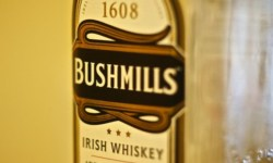 A bottle of Bushmills Irish Whiskey for St Patrick's Day.
