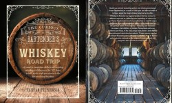 Front and back covers of The Curious Bartender's Whiskey Road Trip book