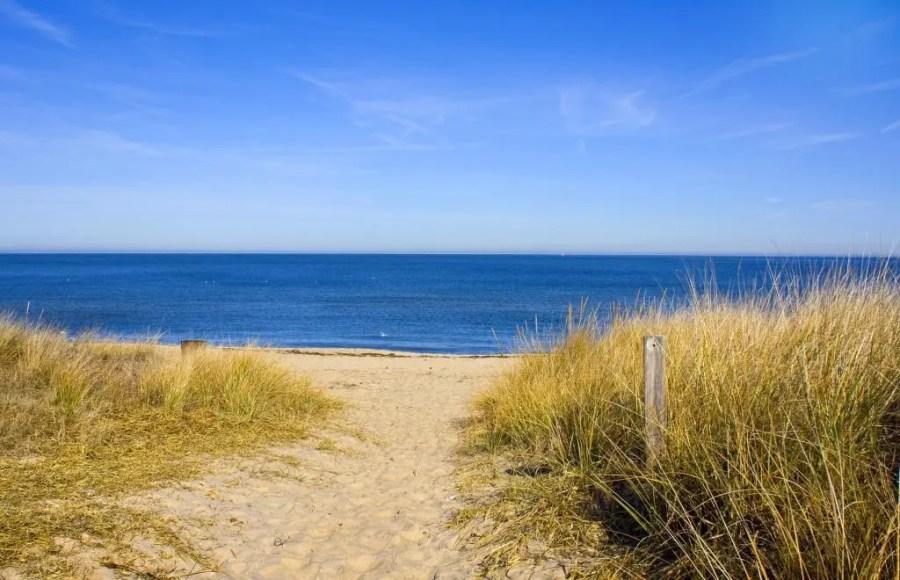 Norfolk beach in Virginia