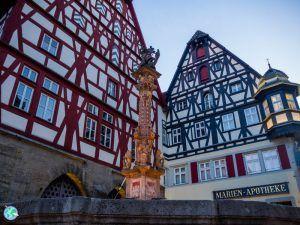 Plaza principal de la ciudad de Rothenburg ob der Tauber