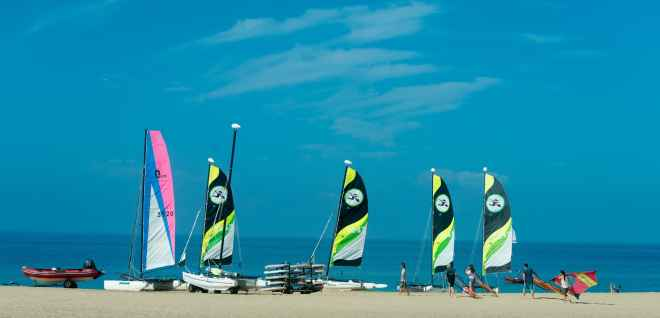 Catamarans on Playa Matorral