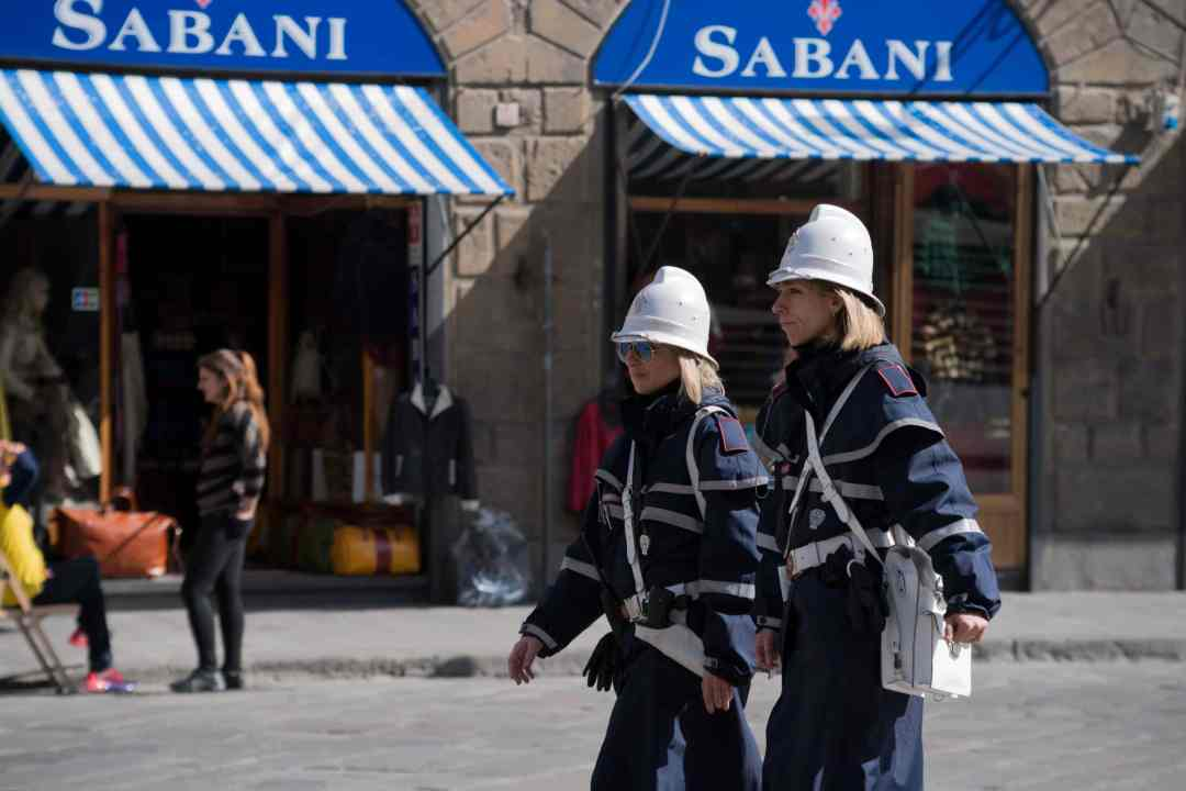 On patrol in Florence