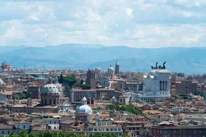 View from JANICULUM HILL in Rome