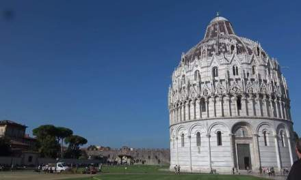 Pisa Baptistery of St John with singing