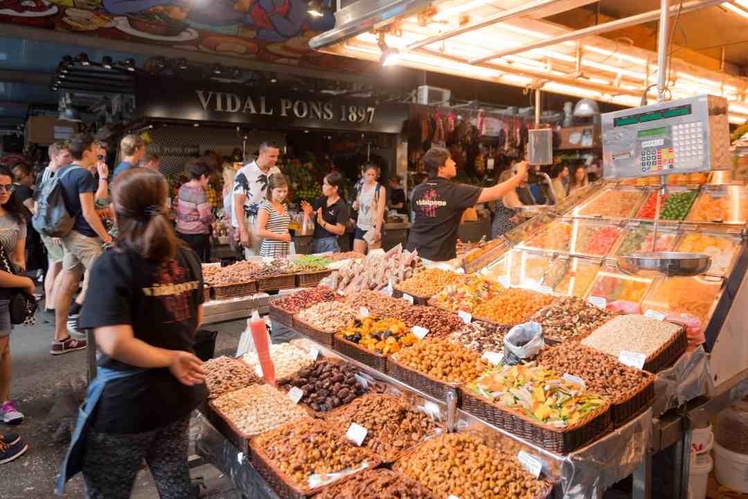 Colourful Barcelona market stall