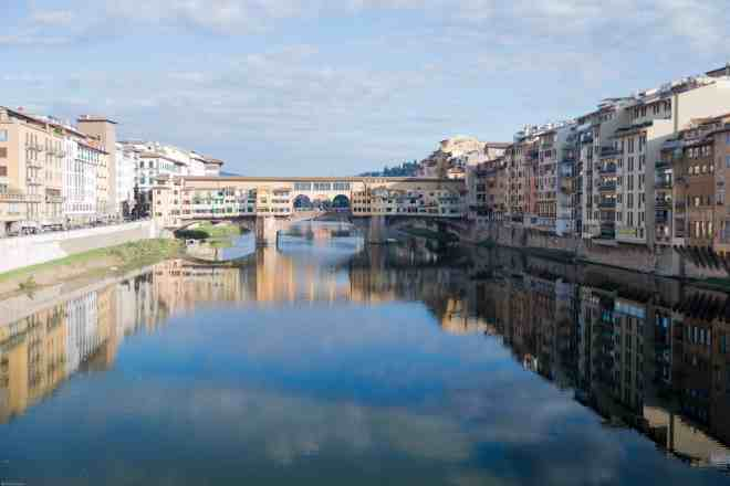 Bridge over the Arno River Florence Italy