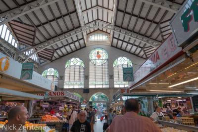 Valencia central market spain