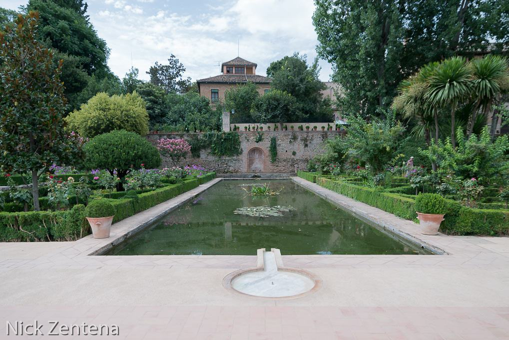 Alhambra garden pool