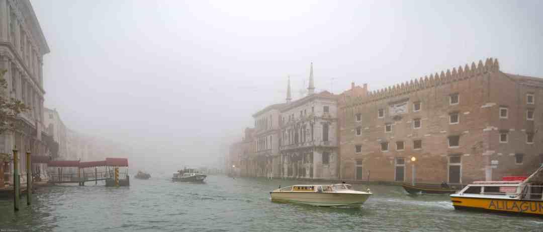 Foggy Venetian canal