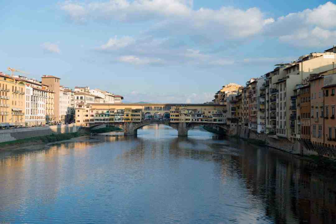 View of Ponte vecchio Florence Italy