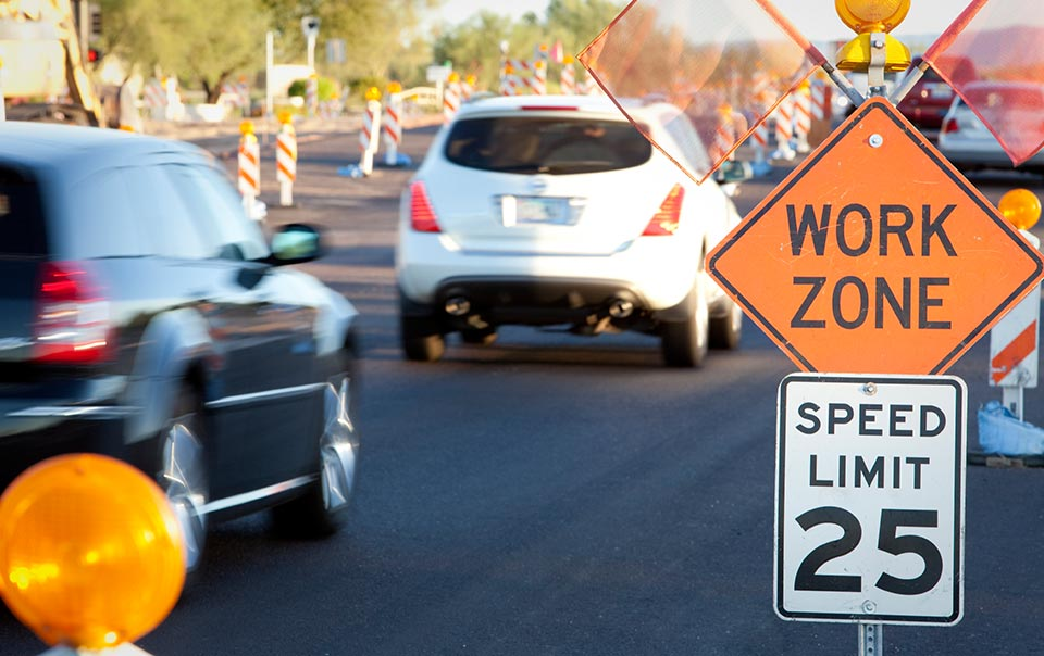 Staying Safe In Work Zone Traffic Travelers Insurance