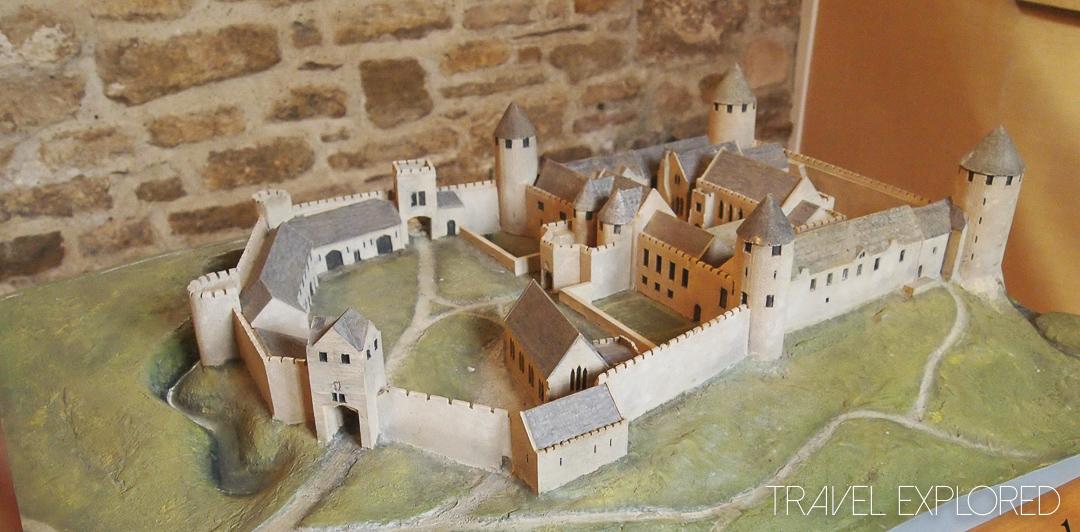 Farleigh Hungerford Castle - model of castle c1600