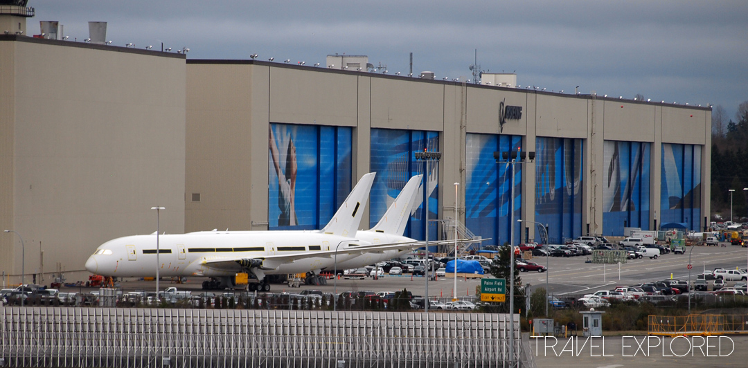 Seattle - Boeing Factory with 787 waiting completion
