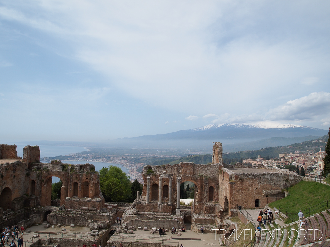 Catania - Roman Ruins and coast in background