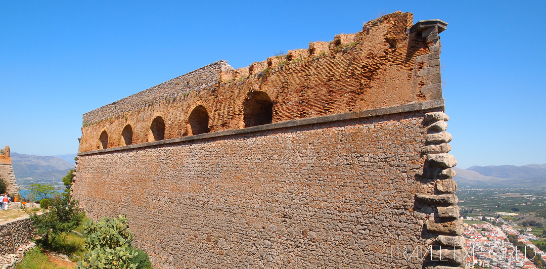 Nafplio - Remaining wall in Palamidi Castle