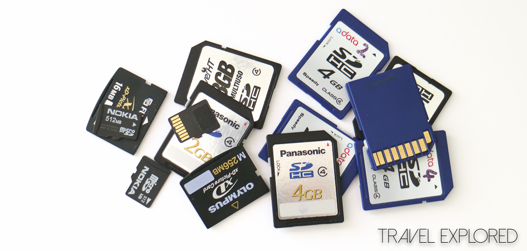 Storing Photos Memory Cards
