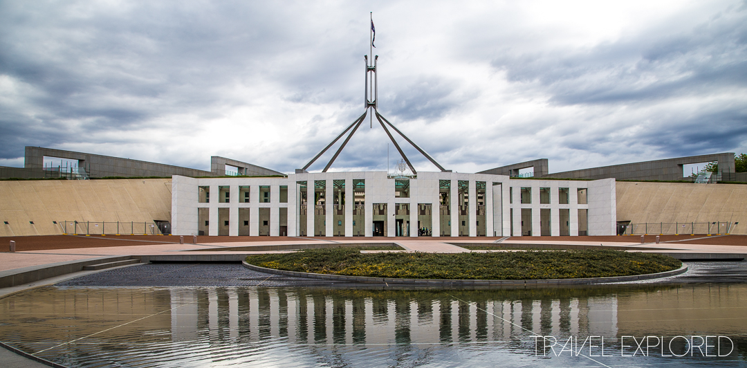 Canberra - Parliament House on Capital Hill by day