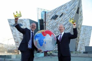 titanic-belfast-ceo-tim-husbands-mbe-and-vice-chairman-conal-harvey-celebrate-titanic-belfast-being-crowned-king-of-the-world