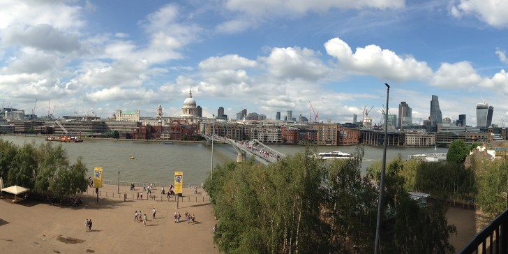 London Skyline from Tate Modern - Best view of London for free - Travel for a Living