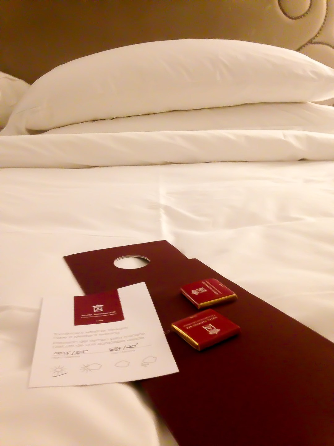 White hotel bed at Hotel Alfonso XIII