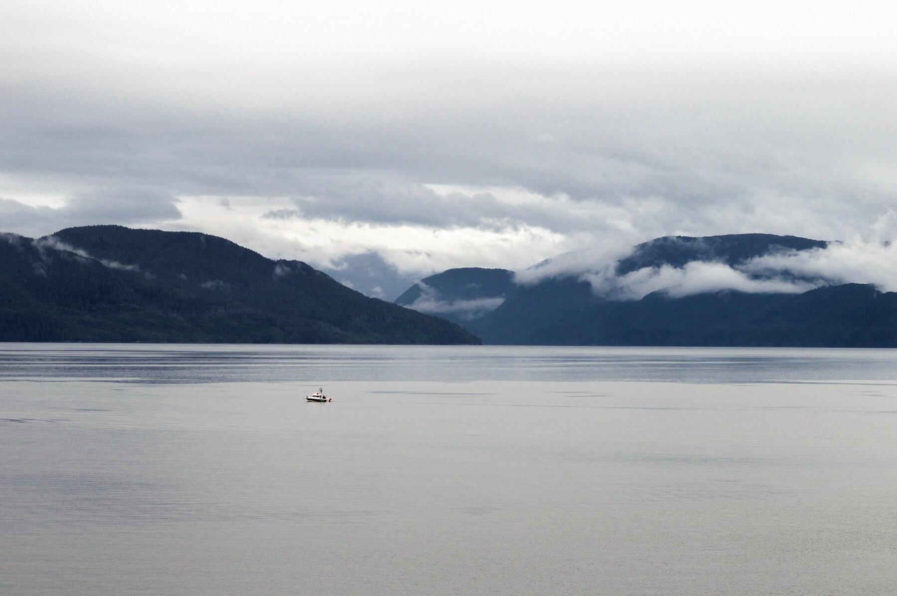 View of Alaska's coastline from a Cruise Ship