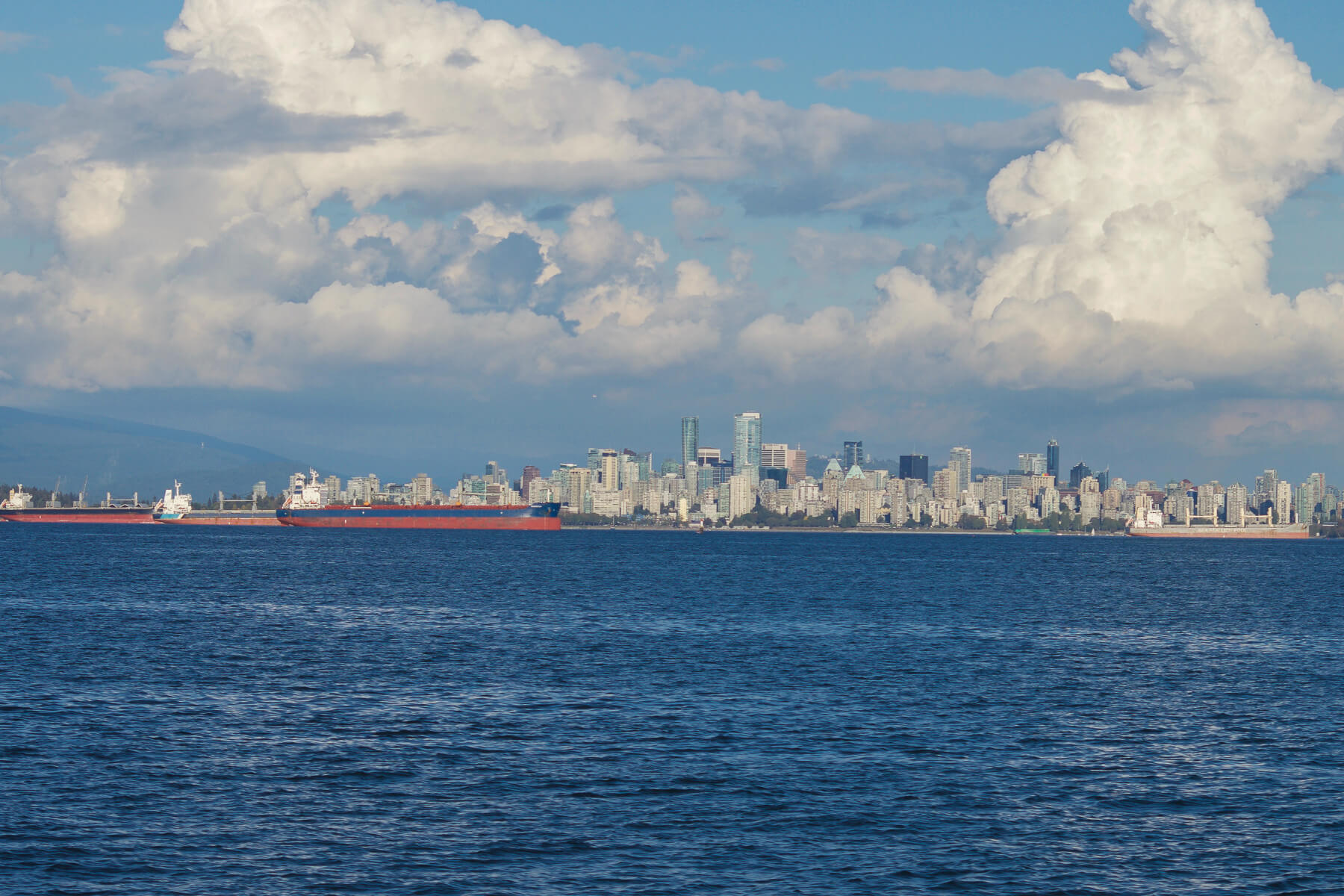 Vancouver city and ships