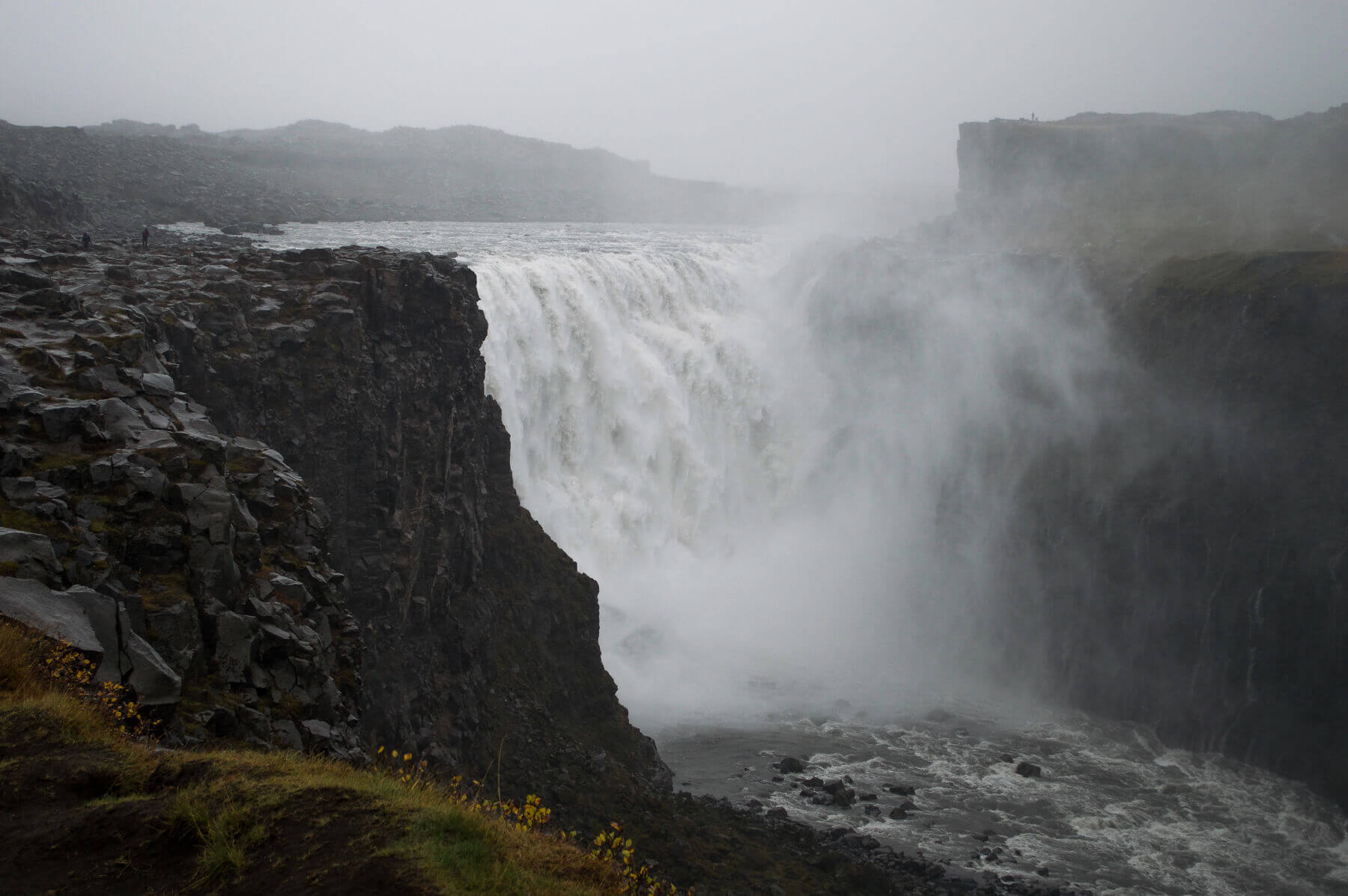 A very powerful waterfall in Iceland