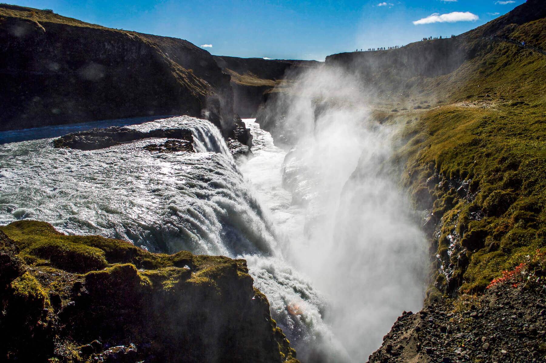 A powerful waterfall between a canyon - Gulfoss