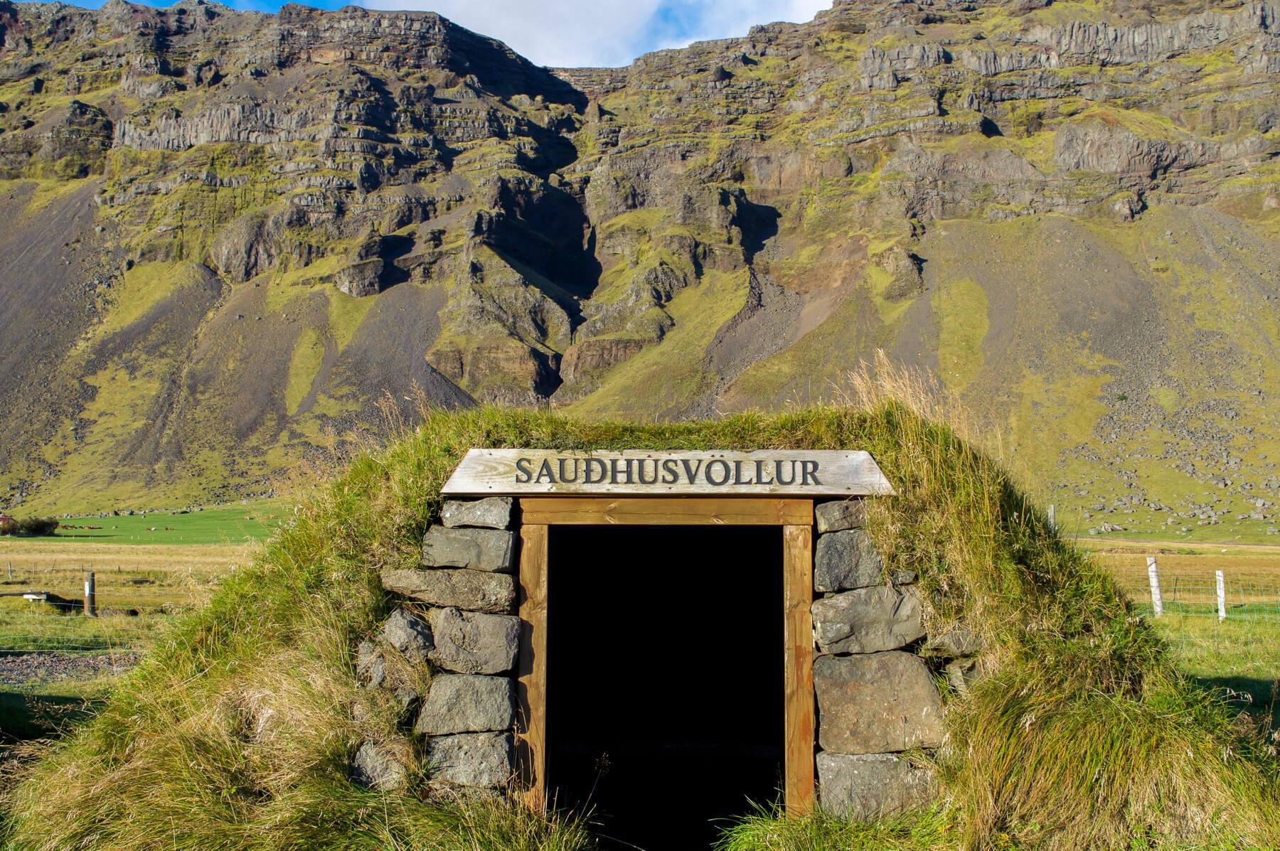 """""""Saudhusvöllur """"- Grass hut in Iceland"""