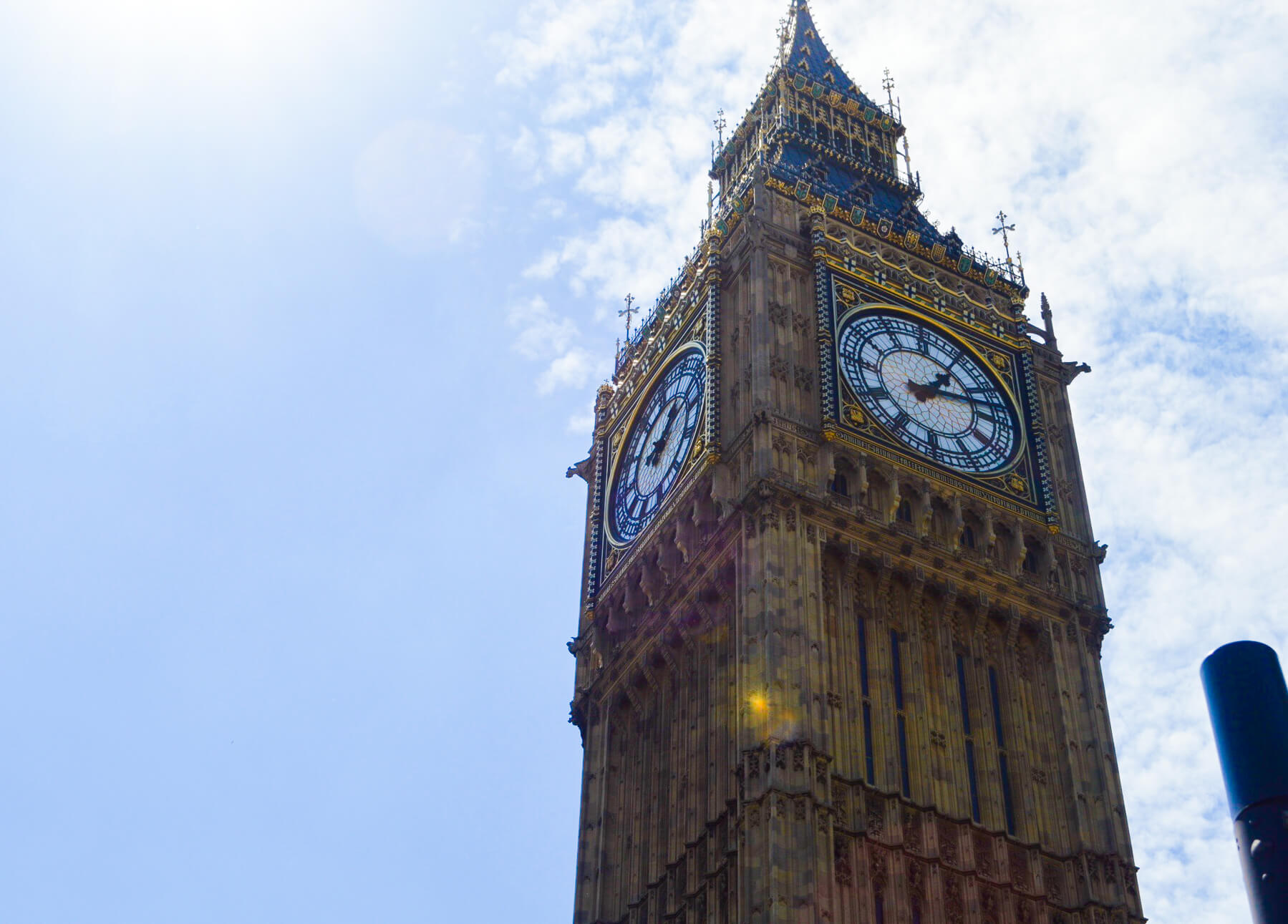 Big Ben clock tower in the sky