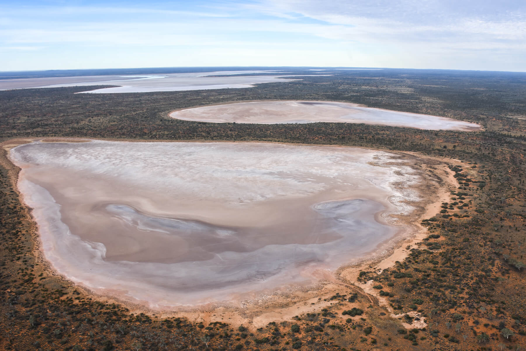 Lake Amadeus in Australian Outback