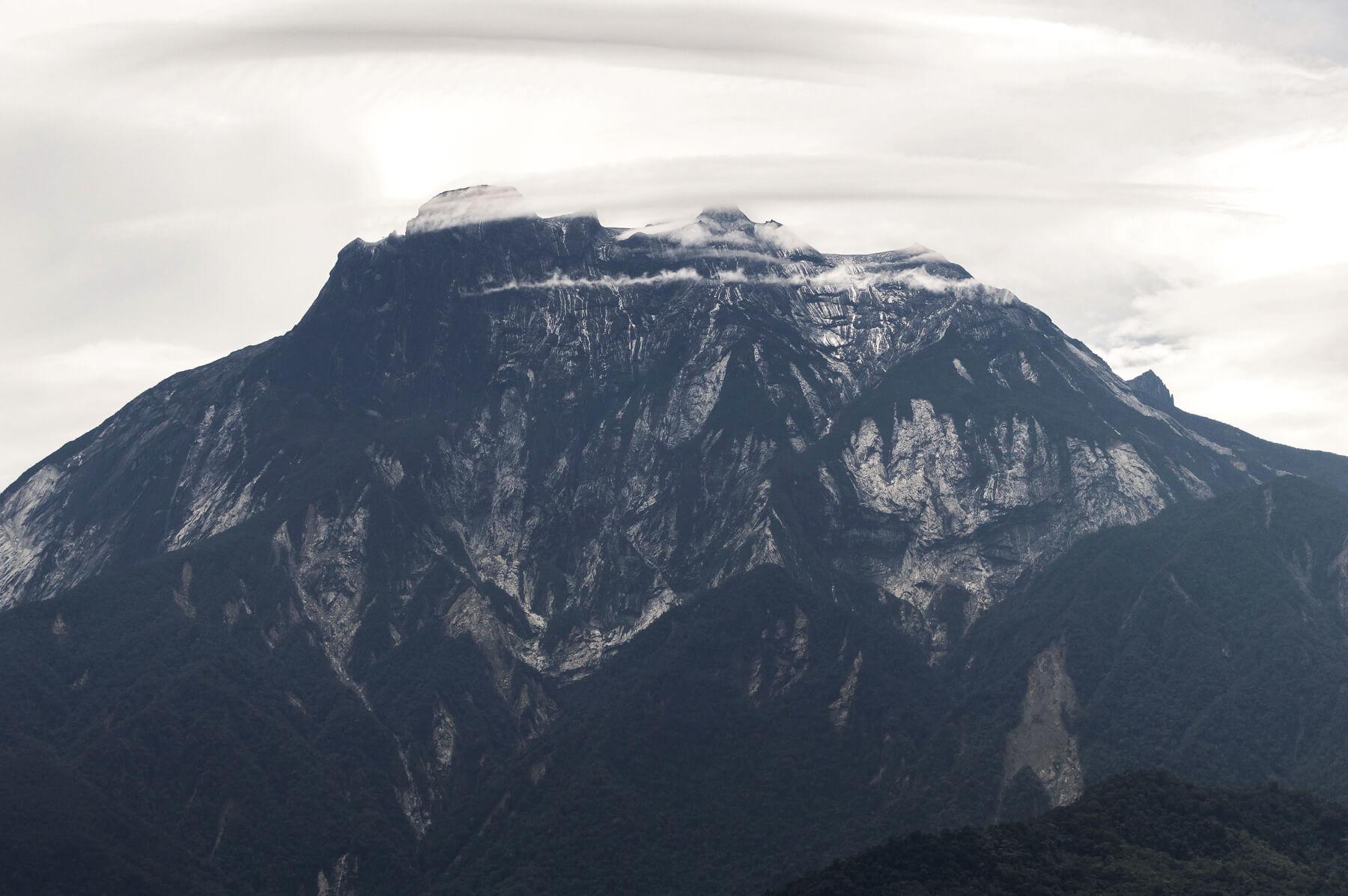 Kinabalu Mountain in Borneo