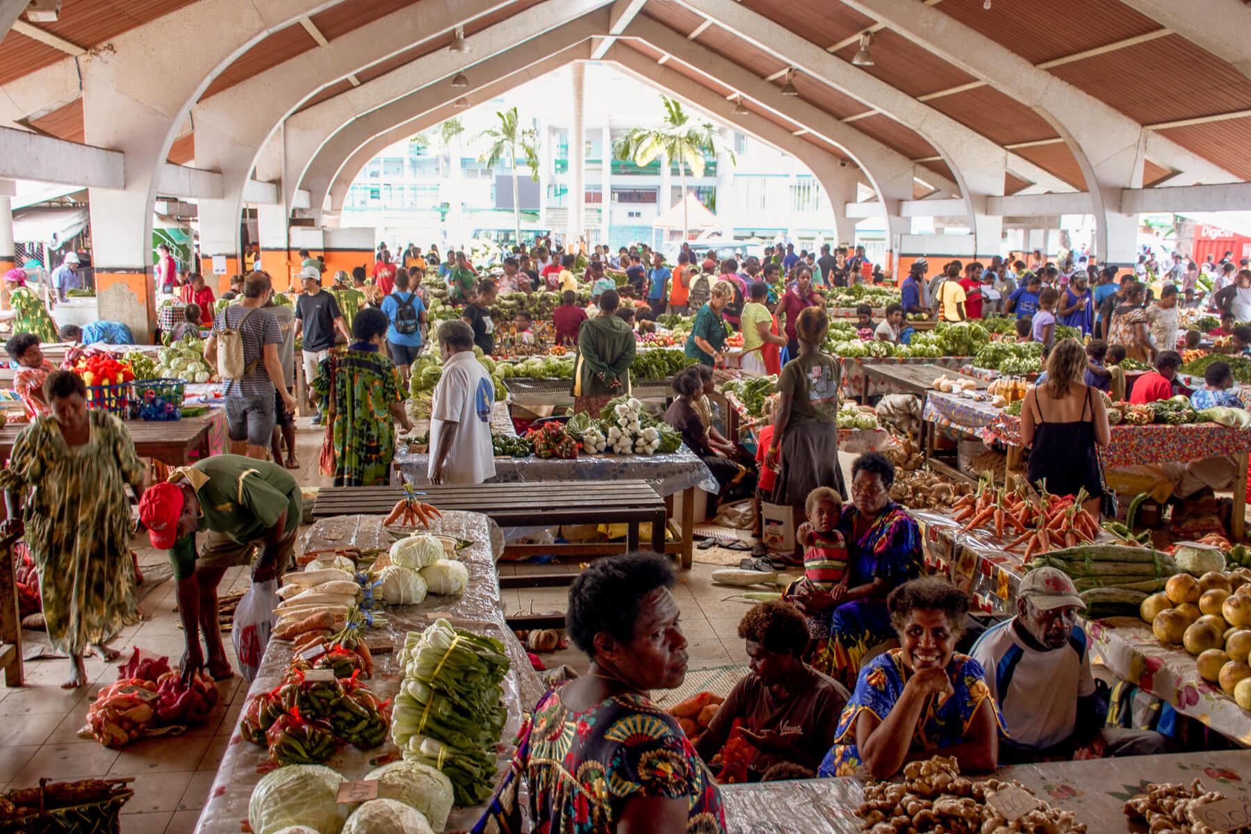 Local fruit market at Port Vila, Vanuatu