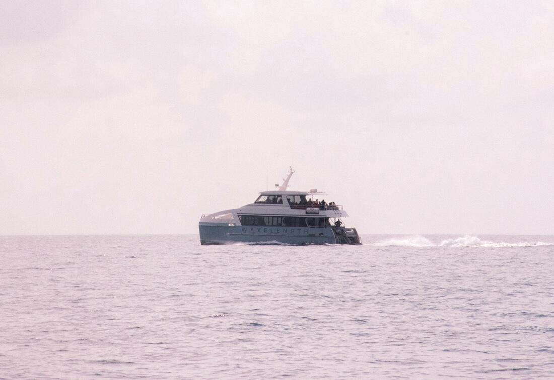 'Wavelength 2' boat moving across the ocean